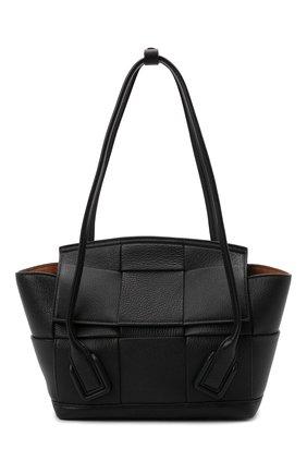 Женская сумка arco small BOTTEGA VENETA черного цвета, арт. 575943/VA981   Фото 1 (Материал: Натуральная кожа; Сумки-технические: Сумки top-handle; Ошибки технического описания: Нет ширины; Размер: small)