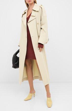 Женские кожаные мюли BOTTEGA VENETA кремвого цвета, арт. 618775/VBSH0 | Фото 2