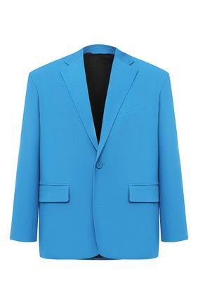 Мужской шерстяной пиджак BALENCIAGA голубого цвета, арт. 623565/TIT17 | Фото 1