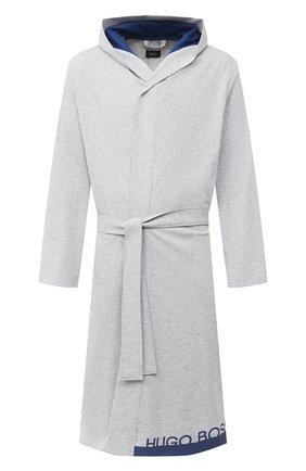 Мужской хлопковый халат BOSS серого цвета, арт. 50430698 | Фото 1