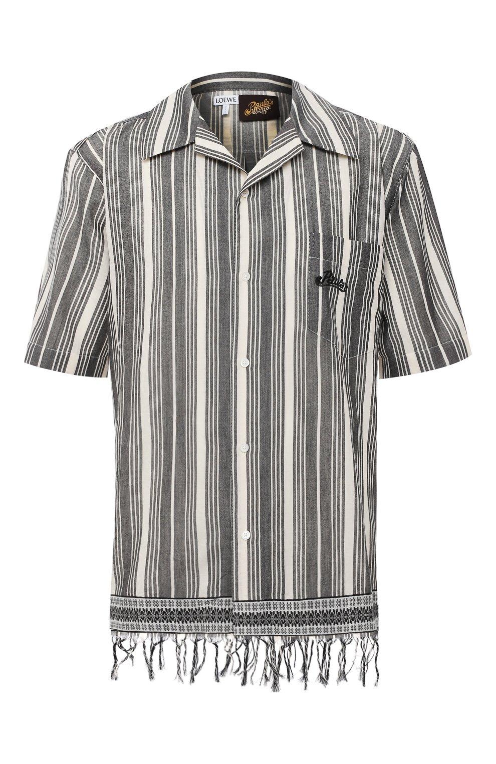 Мужская хлопковая рубашка loewe x paula's ibiza LOEWE черно-белого цвета, арт. H616337X30   Фото 1