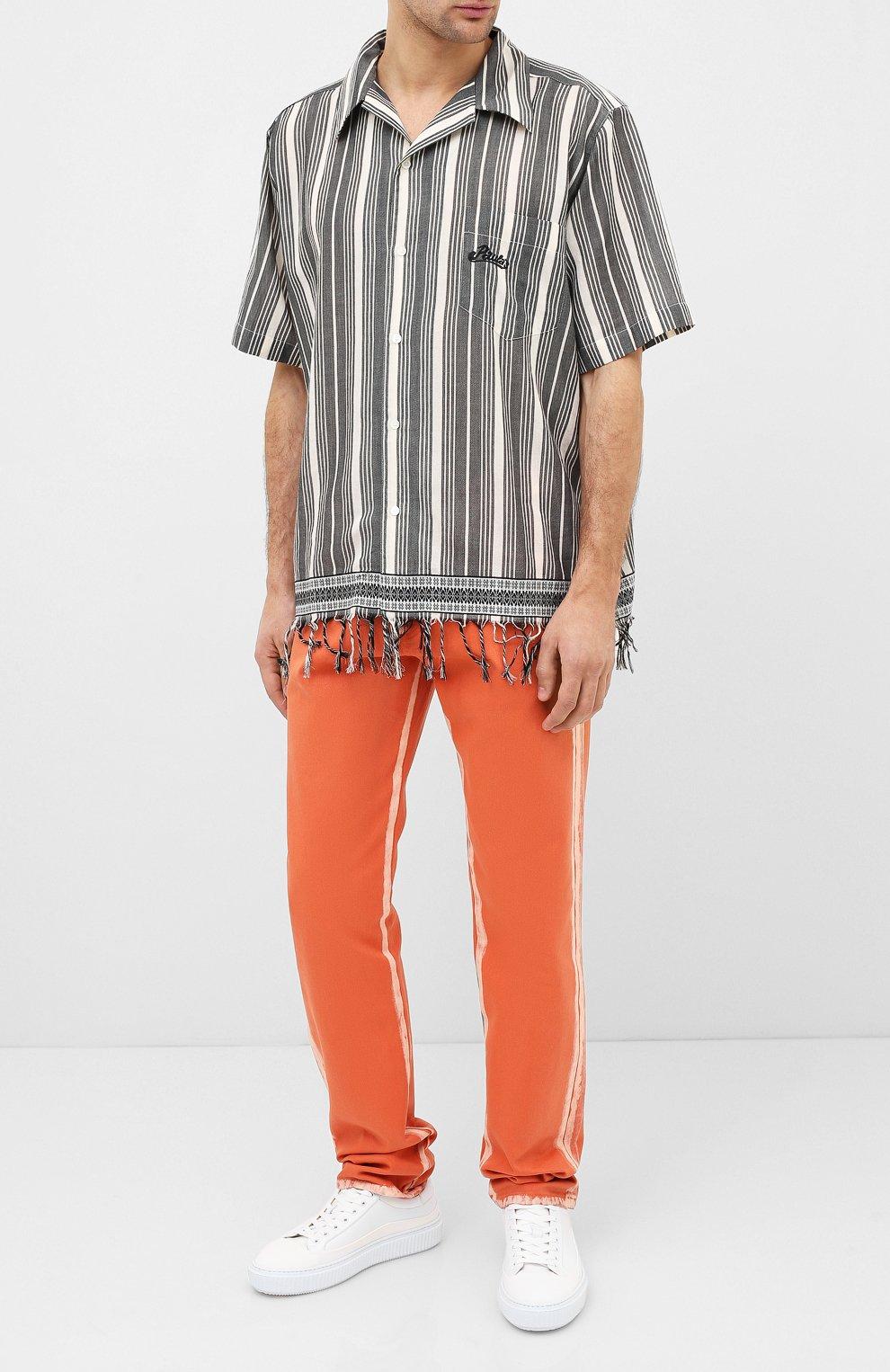 Мужская хлопковая рубашка loewe x paula's ibiza LOEWE черно-белого цвета, арт. H616337X30   Фото 2