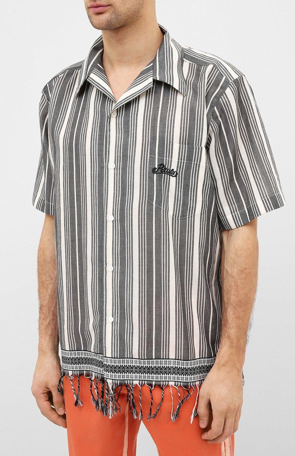 Мужская хлопковая рубашка loewe x paula's ibiza LOEWE черно-белого цвета, арт. H616337X30   Фото 3