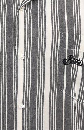 Мужская хлопковая рубашка loewe x paula's ibiza LOEWE черно-белого цвета, арт. H616337X30   Фото 5