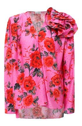 Женская шелковая блузка MAGDA BUTRYM розового цвета, арт. 1935206507 | Фото 1