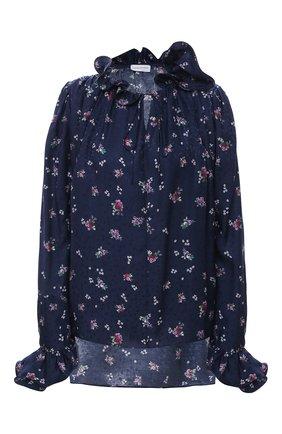 Женская шелковая блузка MAGDA BUTRYM синего цвета, арт. 2135204407 | Фото 1