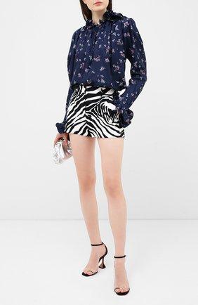 Женская шелковая блузка MAGDA BUTRYM синего цвета, арт. 2135204407 | Фото 2