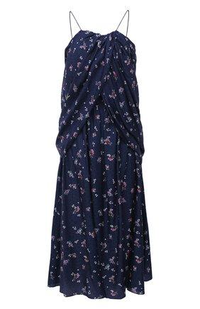 Женское шелковое платье MAGDA BUTRYM синего цвета, арт. 1575204407 | Фото 1