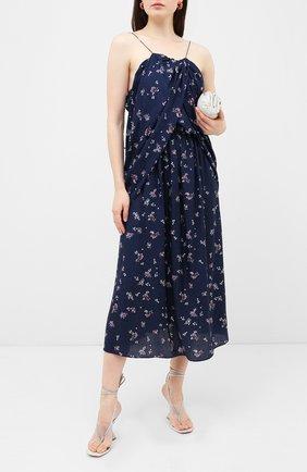 Женское шелковое платье MAGDA BUTRYM синего цвета, арт. 1575204407 | Фото 2
