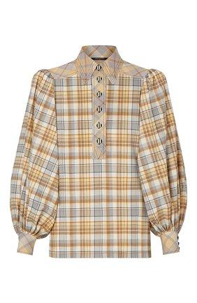 Женская хлопковая блузка LOUIS VUITTON бежевого цвета, арт. 1A7UNM | Фото 1