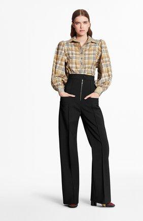 Женская хлопковая блузка LOUIS VUITTON бежевого цвета, арт. 1A7UNM | Фото 2