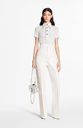 Женские брюки из шерсти и шелка LOUIS VUITTON бежевого цвета, арт. 1A7UX4 | Фото 2