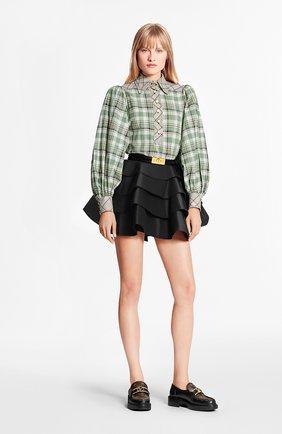 Женская хлопковая блузка LOUIS VUITTON зеленого цвета, арт. 1A7T5Z | Фото 2