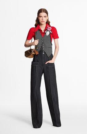 Женские брюки из шерсти и кашемира LOUIS VUITTON черного цвета, арт. 1A7SBY | Фото 2