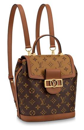 Женский рюкзак dauphine pm LOUIS VUITTON коричневого цвета, арт. M45142 | Фото 1