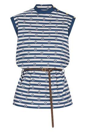 Женское хлопковое платье lv escale LOUIS VUITTON синего цвета, арт. 1A7SKM | Фото 1