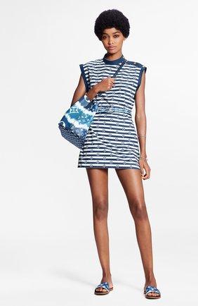 Женское хлопковое платье lv escale LOUIS VUITTON синего цвета, арт. 1A7SKM | Фото 2