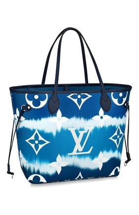 Женская сумка-шопер neverfull mm LOUIS VUITTON синего цвета, арт. M45128 | Фото 1