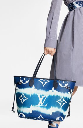 Женская сумка-шопер neverfull mm LOUIS VUITTON синего цвета, арт. M45128 | Фото 2
