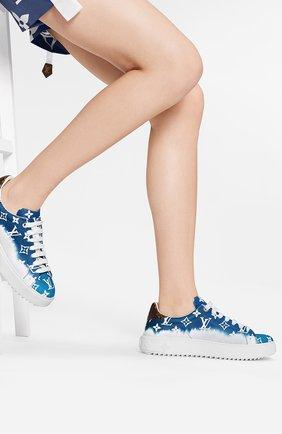 Женские кеды time out lv escale LOUIS VUITTON синего цвета, арт. 1A7UMD | Фото 2