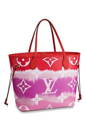 Женская сумка-шопер neverfull mm LOUIS VUITTON розового цвета, арт. M45127 | Фото 1