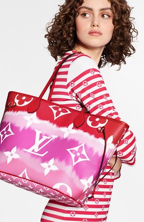 Женская сумка-шопер neverfull mm LOUIS VUITTON розового цвета, арт. M45127 | Фото 2