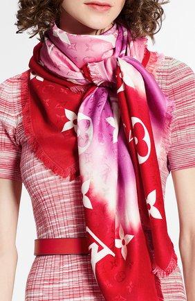 Женская шаль lv escale monogram LOUIS VUITTON розового цвета, арт. M76088 | Фото 2