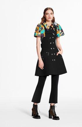 Женское платье из шерсти и шелка LOUIS VUITTON черного цвета, арт. 1A7TJJ | Фото 2