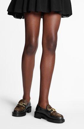 Женские кожаные лоферы academy LOUIS VUITTON черного цвета, арт. 1A7TXQ | Фото 2