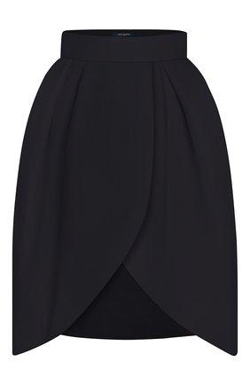 Женская шелковая юбка LOUIS VUITTON черного цвета, арт. 1A7SZD | Фото 1