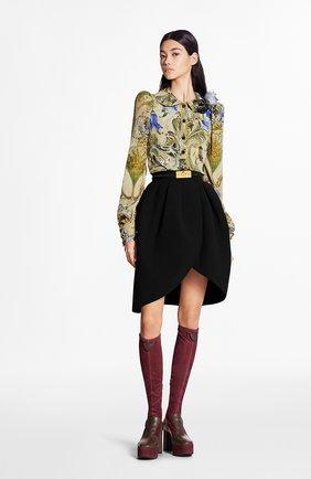 Женская шелковая юбка LOUIS VUITTON черного цвета, арт. 1A7SZD | Фото 2