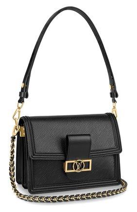 Женская сумка dauphine mm LOUIS VUITTON черного цвета, арт. M56141 | Фото 1