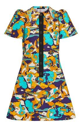 Женское платье из хлопка и шелка LOUIS VUITTON разноцветного цвета, арт. 1A7SZ1 | Фото 1