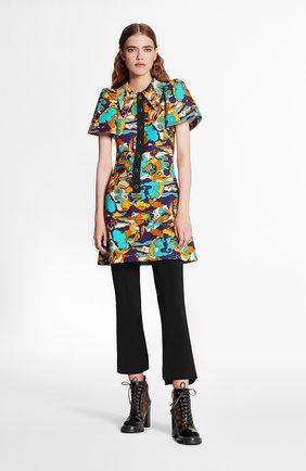 Женское платье из хлопка и шелка LOUIS VUITTON разноцветного цвета, арт. 1A7SZ1 | Фото 2