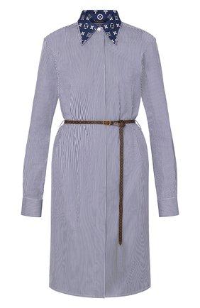 Женское хлопковое платье lv escale LOUIS VUITTON синего цвета, арт. 1A7SES | Фото 1