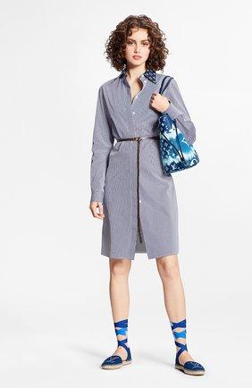Женское хлопковое платье lv escale LOUIS VUITTON синего цвета, арт. 1A7SES | Фото 2