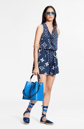 Женское шелковое платье lv escale LOUIS VUITTON синего цвета, арт. 1A7SEM | Фото 2