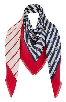 Женская шаль из шелка и шерсти lv escale LOUIS VUITTON разноцветного цвета, арт. M76194 | Фото 1