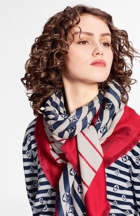 Женская шаль из шелка и шерсти lv escale LOUIS VUITTON разноцветного цвета, арт. M76194 | Фото 2