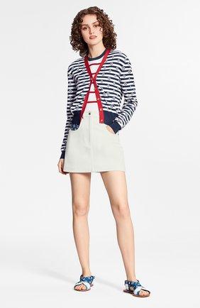 Женская джинсовая юбка lv escale LOUIS VUITTON белого цвета, арт. 1A7UNG | Фото 2