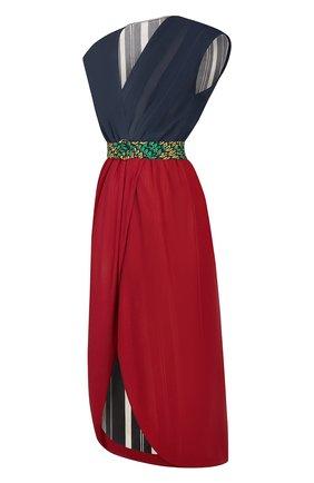 Женское шелковое платье LOUIS VUITTON темно-синего цвета, арт. 1A7T2D | Фото 2