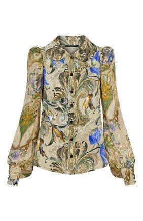 Женская шелковая блузка LOUIS VUITTON бежевого цвета, арт. 1A7TIR | Фото 1