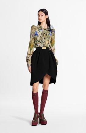 Женская шелковая блузка LOUIS VUITTON бежевого цвета, арт. 1A7TIR | Фото 2