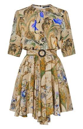 Женское шелковое платье LOUIS VUITTON бежевого цвета, арт. 1A7T2J | Фото 1