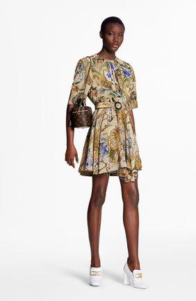 Женское шелковое платье LOUIS VUITTON бежевого цвета, арт. 1A7T2J | Фото 2