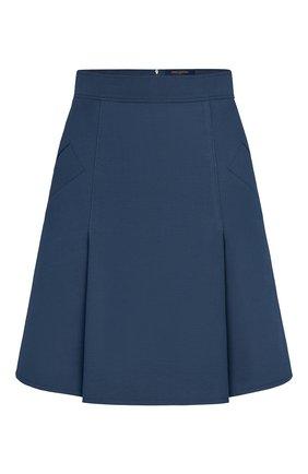 Женская юбка из шерсти и шелка LOUIS VUITTON темно-синего цвета, арт. 1A7SWJ | Фото 1