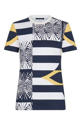 Женская хлопковая футболка LOUIS VUITTON темно-синего цвета, арт. 1A7SR5 | Фото 1