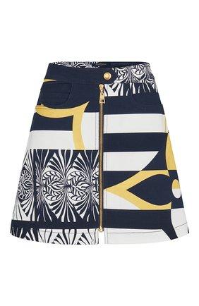 Женская джинсовая юбка LOUIS VUITTON темно-синего цвета, арт. 1A7SYP | Фото 1