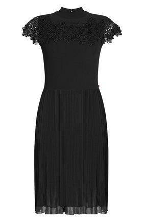 Женское платье из вискозы LOUIS VUITTON черного цвета, арт. 1A7UBR | Фото 1