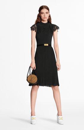 Женское платье из вискозы LOUIS VUITTON черного цвета, арт. 1A7UBR | Фото 2